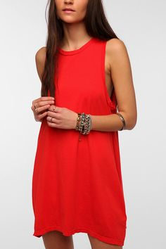 Love...perfectly simple and a gorgeous shade of red!  The Furies Manchu Tank Dress.
