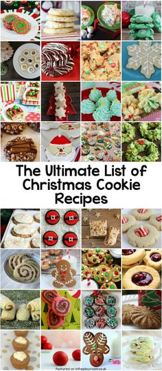 The ultimate list of over 80 Christmas cookie recipe categorised by theme and flavour. So many tasty and easy Christmas cookie ideas for holiday cookie swaps, christmas parties and the holiday season