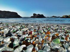 A praia de vidro - Califórnia - EUA