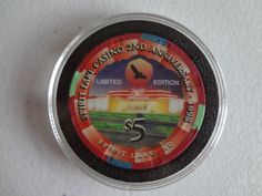 SPIRIT LAKE CASINO ND 2ND ANNIVERSARY 1998 $5 CHIP