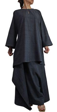 ジョムトン手織り綿のシンプルチュニック