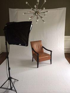 Mid Century Modern Salmon Wood and Vinyl Arm Chair / by weareCURIO, $165.00