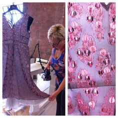 Sveta also steamed the hem of this Dior dress to give it that final touch http://instagram.com/p/shR8ARMBPC/