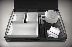 Air Dinner   Airline Tableware by Rikard Rehnmark, via Behance