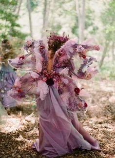 Woodland Faerie Style Wedding by florist & event designer Tricia Fountaine of Tricia Fountaine Design. Photographer: Elizabeth Messina.