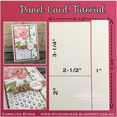 Panel card dimensions