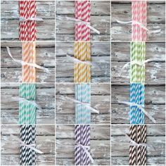 Just crazy about Pretty Paper Straws from The TomKat Studio