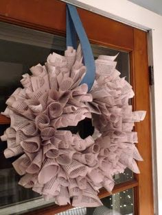 Flower Patch Farmgirl: Book Wreath - or - She's No Crafty Clara