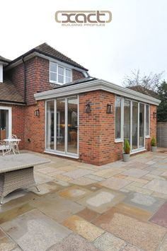 XACT Aluminium Roof Lantern, Bifold Doors, Windows and Bespoke Guttering supplied and installed on a rear extension on a property in Witley, Godalming. Porch Extension, Conservatory Extension, House Extension Plans, House Extension Design, Conservatory Design, Side Extension, Extension Ideas, Garden Room Extensions, House Extensions