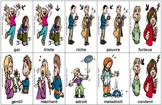 Contraires Education And Literacy, French Education, French Teacher, Teaching French, French Adjectives, High School French, Word Poster, Core French, French Grammar