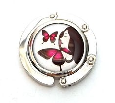 Designer Collection Magnetic Foldable Purse Hook/Hanger, Purple Butterflies  Accessories 4 All Purse Hooks , http://www.amazon.com/dp/B003SS5948/ref=cm_sw_r_pi_dp_9IDIpb1NDZYMJ