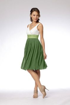 I love the two-tone dresses! This one also comes in yellow. (Still can't make up my mind on the color)