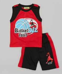 Look what I found on #zulily! Red '1987' Tank & Black Shorts - Infant, Toddler & Boys #zulilyfinds