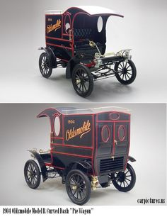 "1904 Oldsmobile Model R Curved Dash ""Pie Wagon"" ✏✏✏✏✏✏✏✏✏✏✏✏✏✏✏✏ AUTRES VEHICULES - OTHER VEHICLES ☞ fr.pinterest.com/... ══════════════════════ BIJOUX ☞ www.facebook.com/... ✏✏✏✏✏✏✏✏✏✏✏✏✏✏✏✏"