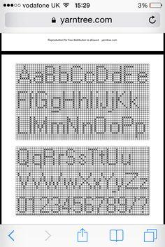Small cross stitch alphabet pattern