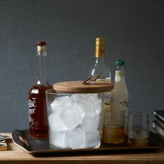 Wood Topped Ice Bucket | west elm
