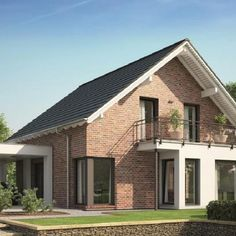3 Bedrooms single-family house Evolution 143 - Home Ideas Small House Design, Modern House Design, 3 Storey House, Contemporary Style Homes, Modern Bedroom Design, Prefab Homes, Home Design Plans, Detached House, Modern Architecture