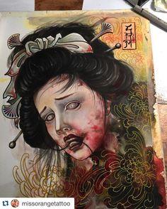 "530 Likes, 6 Comments - Japanese Tattoo Art (@japanesetattooart) on Instagram: ""生首 Namakubi (severed head) by @missorangetattoo #japanesetattooart #japanesetattoos #japanesetattoo…"""
