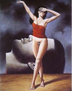 "Rafal Olbinski, ""Salome, Strauss, opera"", Acrylic on Canvas, 2008"