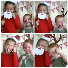 Homemade Holiday Photo Booth- great idea for family christmas cards Christmas Photo Booth Props, Christmas Photo Cards, Christmas Pictures, Photo Props, Xmas Cards, Greeting Cards, Christmas Booth, Xmas Pics, Noel Christmas