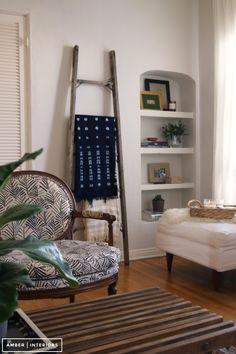 Amber Interiors for Benjamin Moore. Living Room in BM's Classic Gray