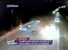 Galdino Saquarema Noticia: TRAGÉDIA EM SP Carro explode na rodovia Ayrton Senna..