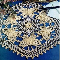 BUTTERFLY CROCHET DOILY FREE PATTERN « CROCHET PATTERNS