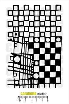 Masque : Des carrés avec des ronds Carabelle Studio, Art Mask Médium - Art Stamp