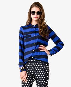 Essential Striped Georgette Shirt $19.80 (Forever 21)
