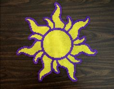 Perler Fuse Bead Tangled Sun by PkmnMasterTash on deviantART
