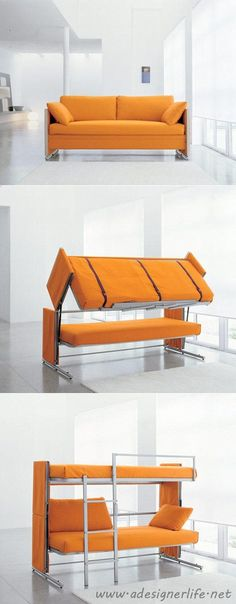Resource Furniture Convertible Sofa to Bunk Bed - AWESOME! #product_design