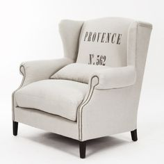 Zentique Inc. Napoleon Half Wingback Chair in Provence