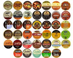 Yes, they're all here. 40-count Flavored Coffee Single Serve Cups For Keurig K cup Brewers Variety Pack Sampler Custom Variety Pack