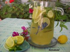 Sirop natural de menta verde - Retete in imagini - Culinar.ro Forum Cottage, Mugs, Tableware, Green, Sweets, Syrup, Canning, Dinnerware, Cottages