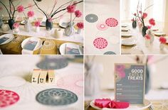 Love the colors for the baby shower.