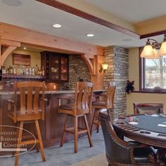 finished basement bar | vincent abell contracting | pinterest