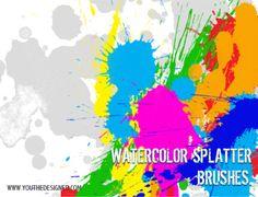 Watercolor Splatter Brushes - You The Designer