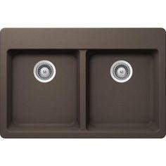 Buy here: http://thd.co/1Qwgavw SCHOCK ALIN200T063 ALIVE Series CRISTALITE 50/50 Topmount Double Bowl Kitchen Sink, Mocha #kitchensink #kitchensinks #kitchen #sinks #schock #granitesink