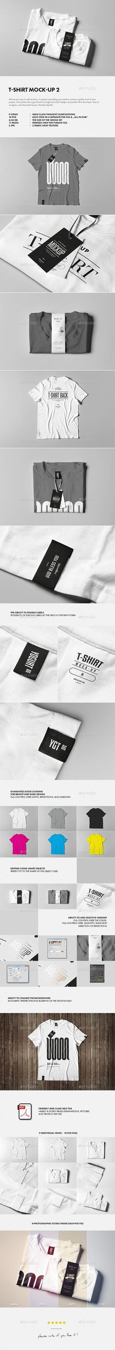Buy T-Shirt Mock-up 2 by on GraphicRiver. T-SHIRT MOCK-UP 2 Advanced, easy to edit mockup. It contains everything you need to create a realistic look of your p. T Shirt Logo Design, T Shirt Design Template, Shirt Designs, Graphic Design, Label Design, Packaging Design, Restaurant Logo, Shirt Label, Shirt Packaging