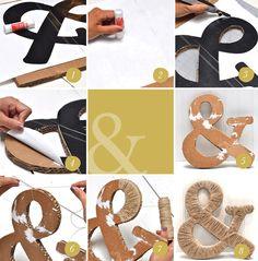 letras con hilo sisal.
