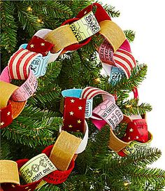 dillards trimmings big top tidings ticket loop 6ft garland dillards big top festivus