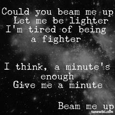 Amazing Lyrics -- #LyricArt for Beam Me Up by P!nk