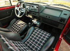 Find of the Day: 1980 Volkswagen Golf - VWVortex Vw Mk1 Rabbit, Vw Rabbit Pickup, Volkswagen Golf Mk1, Golf Mk2, Vw Caddy Mk1, Jetta Mk1, Vw Cabrio, Car Interior Upholstery, Black Adidas Shoes