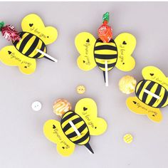 50Pcs Insect Lollipop Candy Decoration Paper Card Bees Ladybug Butterfly Sale #ebay #Home & Garden