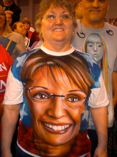 This woman wearing this Sarah Palin t-shirt. | 41 People You Won't Believe Actually Exist