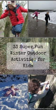 33 Super Fun Winter Outdoor Activities for Kids is part of Kids Crafts Winter Posts - Just because it's winter doesn't mean children should stay indoors There are so many winter outdoor activities that kids can do, that there should be… Winter Activities For Toddlers, Preschool Christmas Activities, Winter Outdoor Activities, Nature Activities, Family Activities, Indoor Activities, Kids Outdoor Play, Outdoor Learning, Outdoor Fun