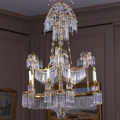 Eight-light chandelier by Berlin, Werner & Mieth Manufacture.