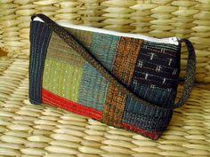 Japanese cotton handbag Sashiko bag quilted by SlaneyHandCraft, €35.00