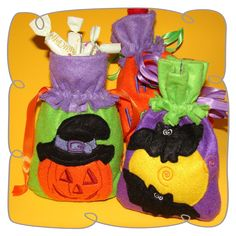 in The Hoop Trick or Treat bags Halloween Designs, Trick Or Treat Bags, Children, Kids, Embroidery Designs, Hoop, Treats, Projects, Sweet Like Candy