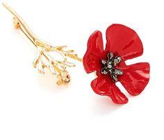 Flower Design Brooch 1pc